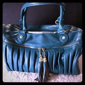 Steve Madden Designer Handbag Purse Turquoise L